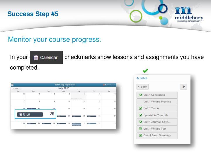 Success Step #5