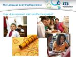 the language learning experience1