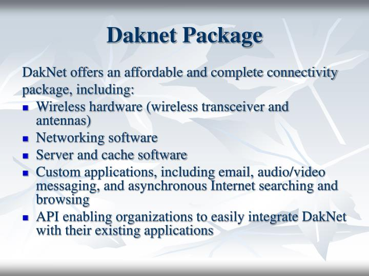 Daknet Package