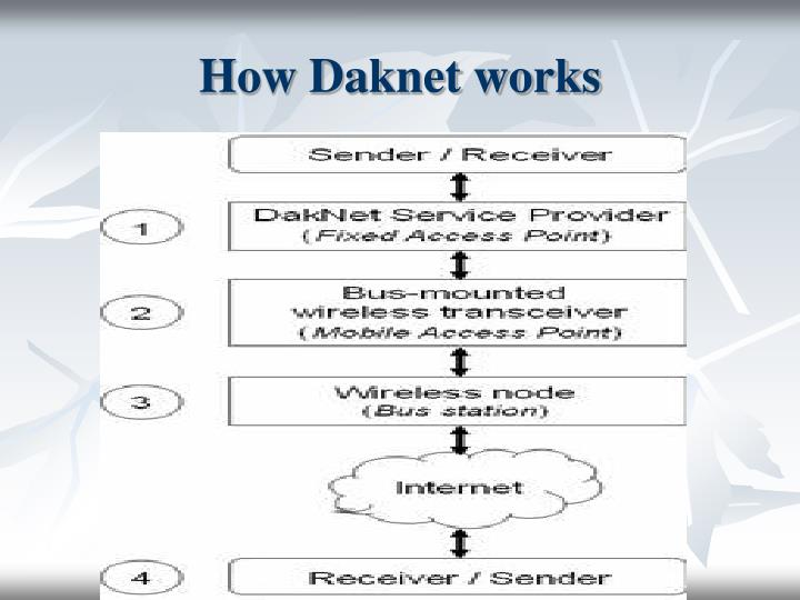 How Daknet works