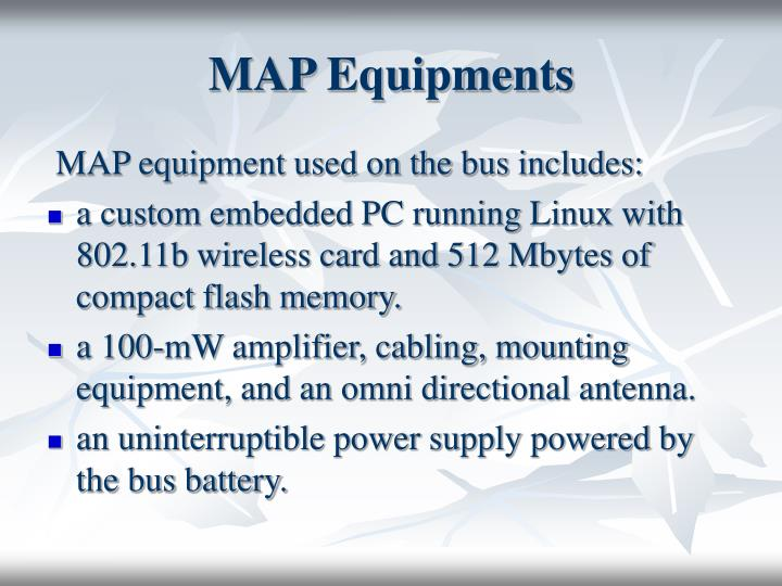 MAP Equipments