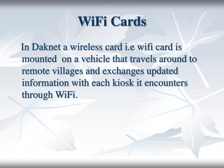 WiFi Cards