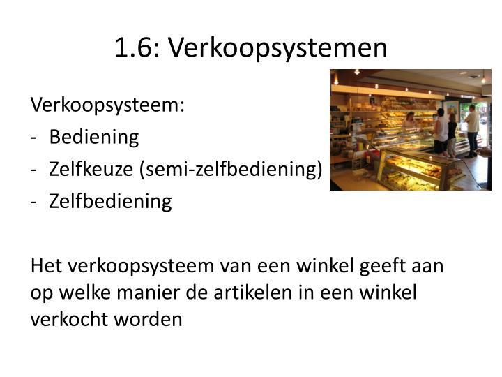 1.6: Verkoopsystemen
