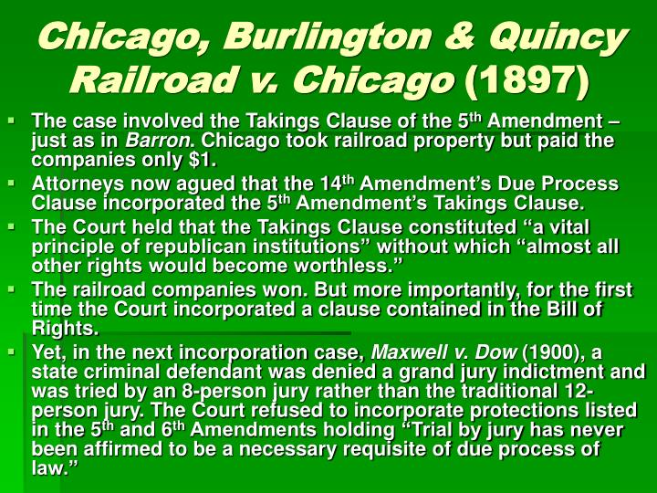 Chicago, Burlington & Quincy Railroad v. Chicago