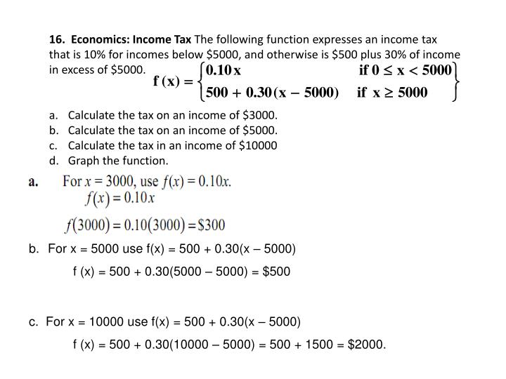 16.  Economics: Income Tax