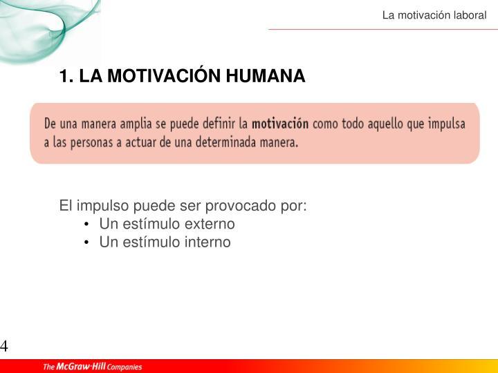1. LA MOTIVACIÓN HUMANA
