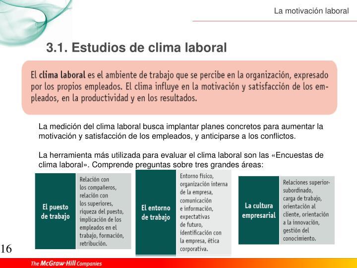 3.1. Estudios de clima laboral