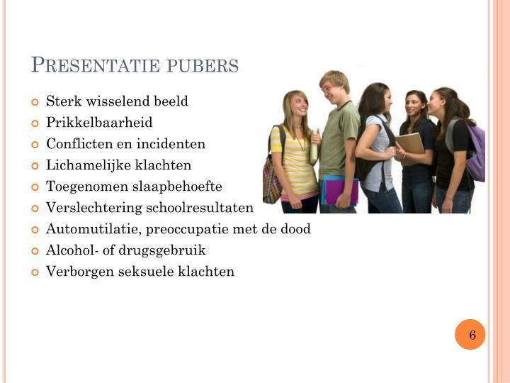 Presentatie pubers