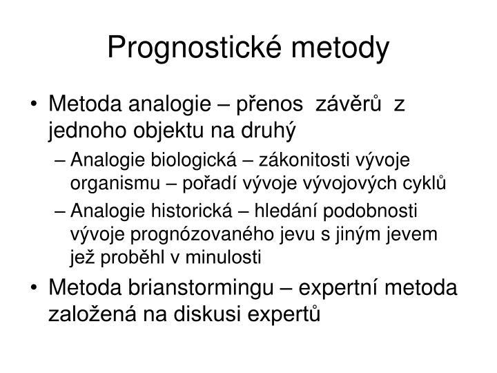 Prognostické metody