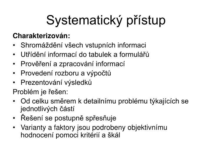 Systematický přístup
