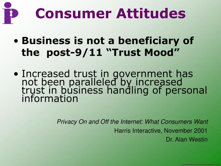 "Business is not a beneficiary of the  post-9/11 ""Trust Mood"""