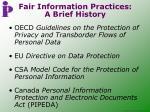 fair information practices a brief history
