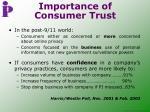 importance of consumer trust