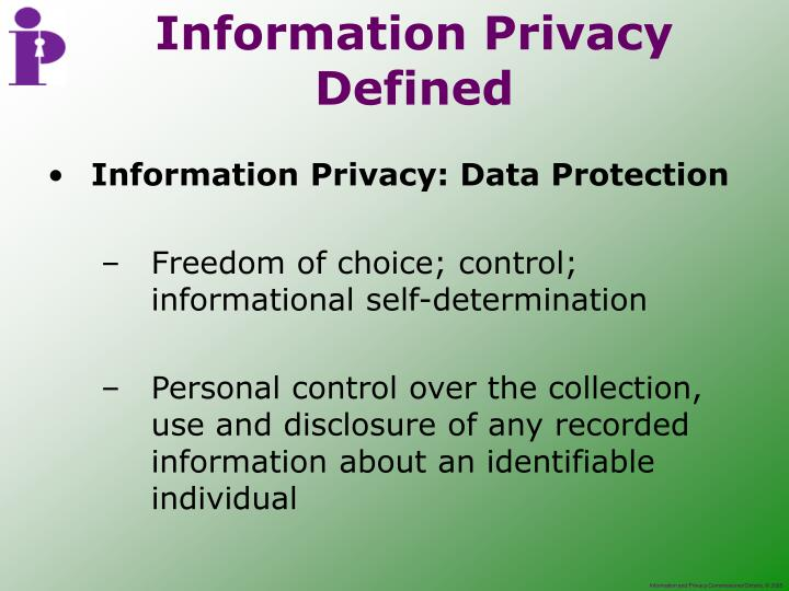Information Privacy: Data Protection