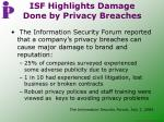 isf highlights damage done by privacy breaches