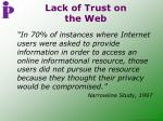lack of trust on the web