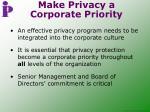 make privacy a corporate priority