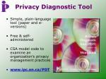 privacy diagnostic tool