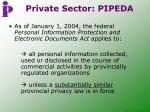 private sector pipeda