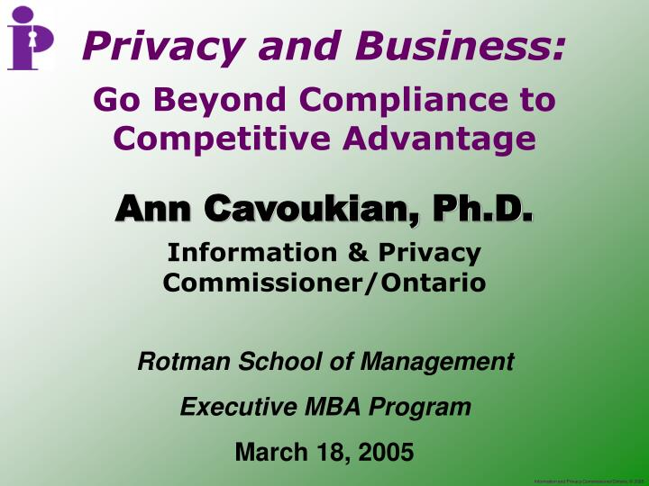 Privacy and Business: