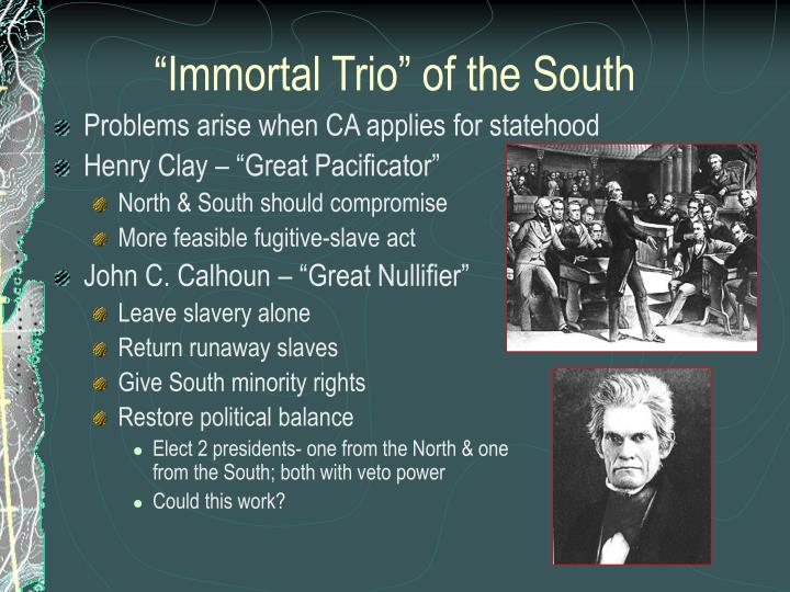 """Immortal Trio"" of the South"