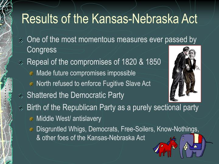 Results of the Kansas-Nebraska Act