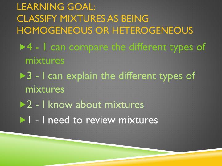 LEARNING goal: