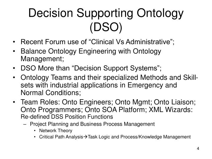 Decision Supporting Ontology (DSO)