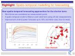 highlight spatio temporal modelling for forecasting
