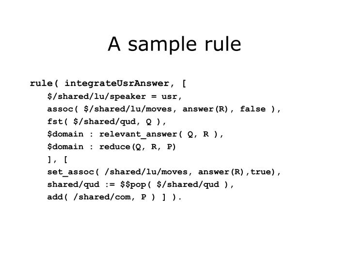 A sample rule