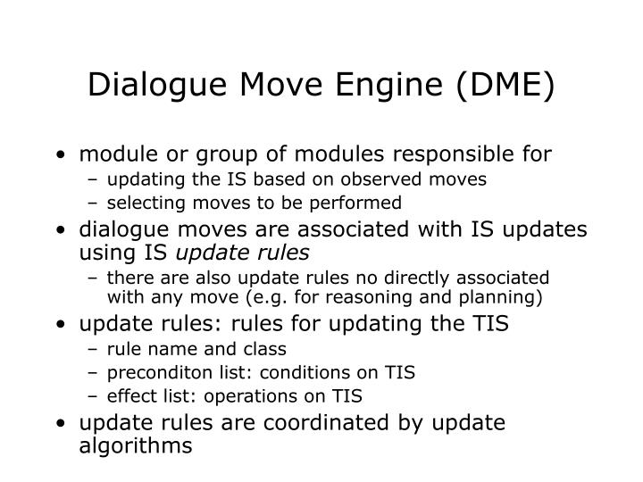 Dialogue Move Engine