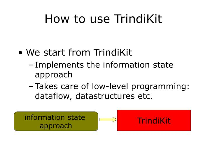 How to use TrindiKit
