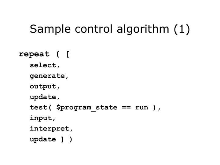 Sample control algorithm (1)