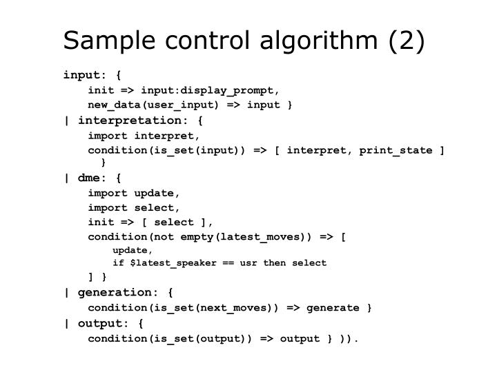 Sample control algorithm (2)