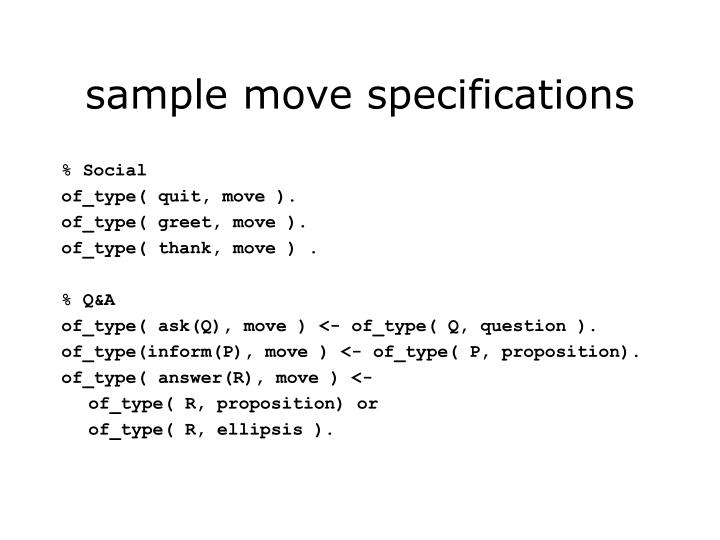 sample move specifications