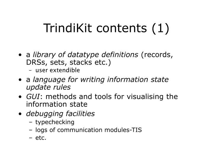 TrindiKit co