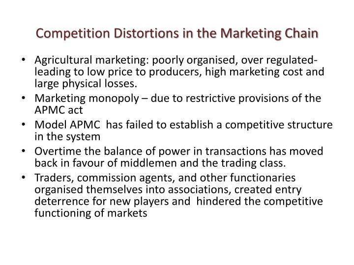 Competition Distortions in the Marketing Chain