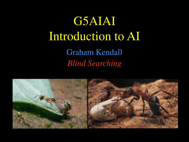 G5 aiai introduction to ai
