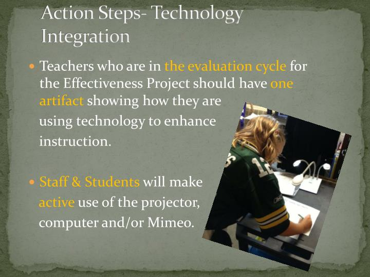 Action Steps- Technology Integration