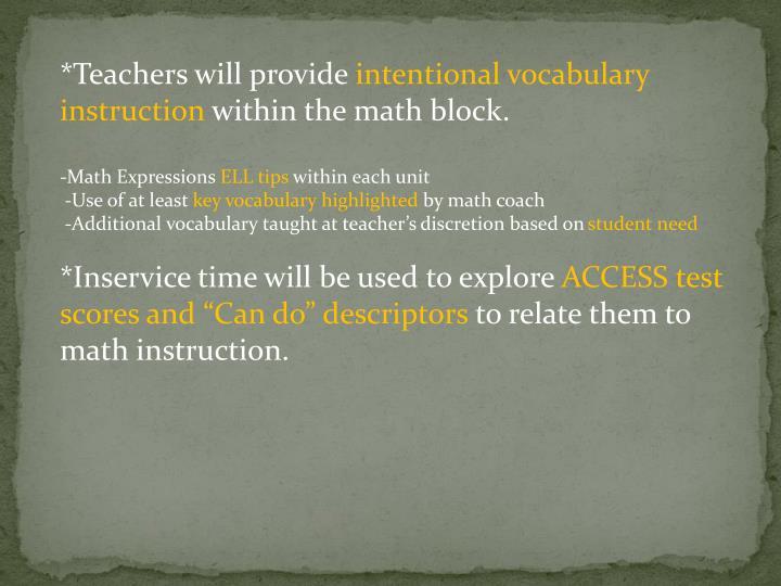 *Teachers