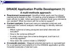 driade application profile development 1
