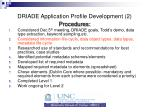 driade application profile development 2