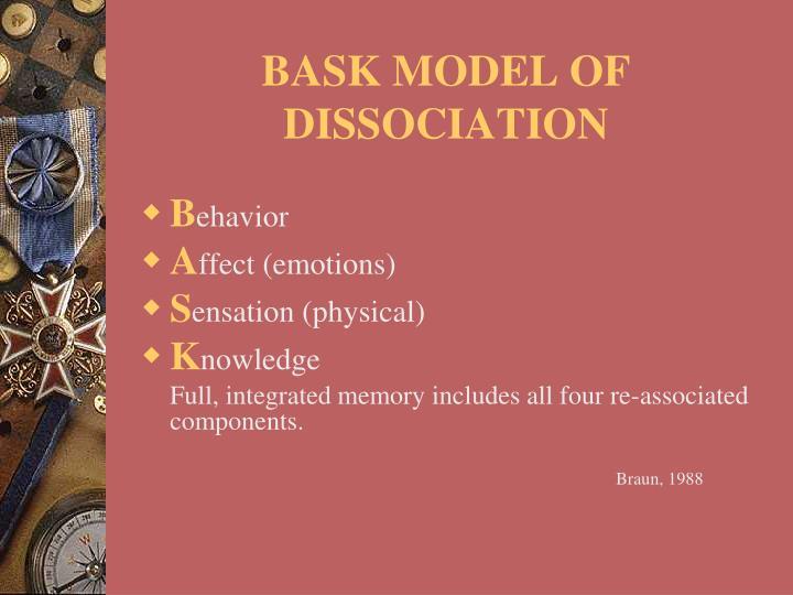 BASK MODEL OF DISSOCIATION
