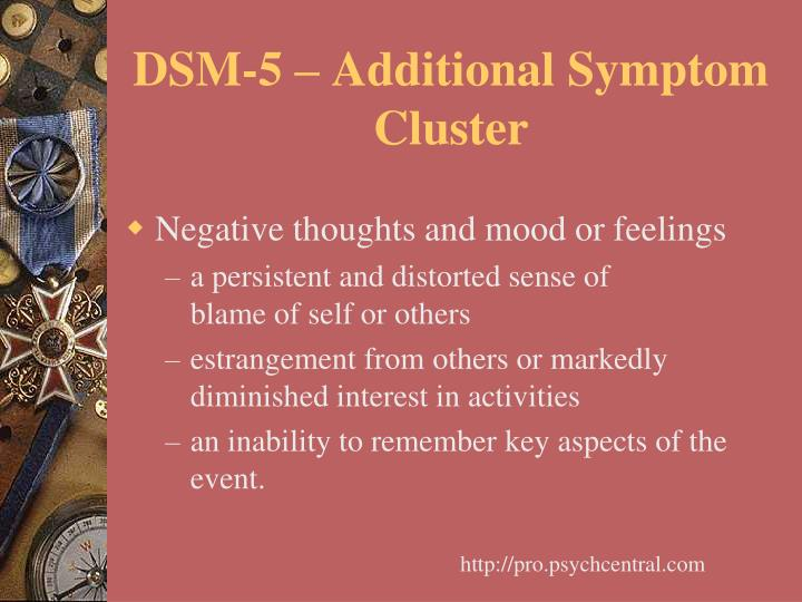 DSM-5 – Additional Symptom Cluster
