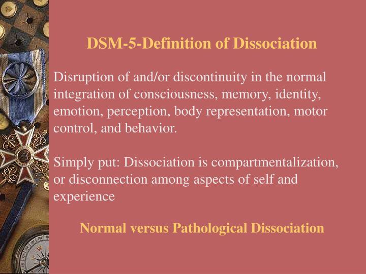 DSM-5-Definition of Dissociation