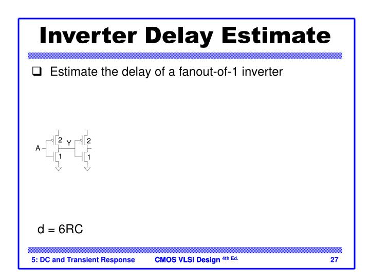 Inverter Delay Estimate
