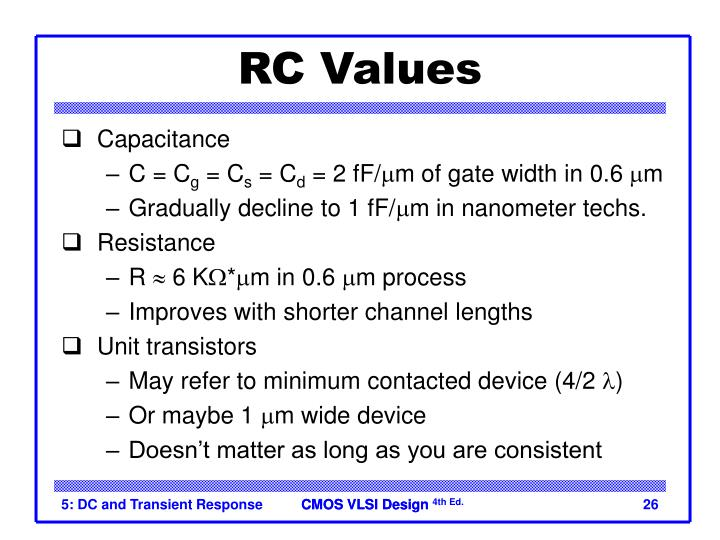 RC Values