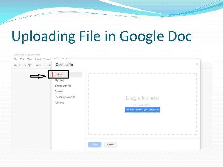 Uploading File in