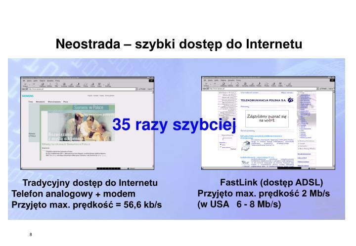 Neostrada – szybki dostęp do Internetu