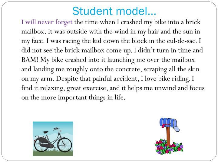 Student model…
